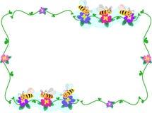pszczoły kwiatów ramowi tercety ilustracji