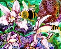 pszczoły mamroczą royalty ilustracja