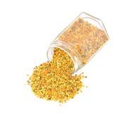 Pszczoły pollen w szklanym słoju obraz royalty free