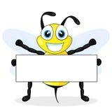 pszczoły pusty śliczny mienia znak Obraz Stock