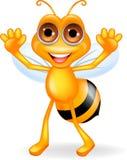 Pszczoły szczęśliwa kreskówka Fotografia Stock