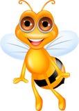 Pszczoły szczęśliwa kreskówka Obrazy Royalty Free