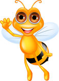 Pszczoły szczęśliwa kreskówka Obrazy Stock