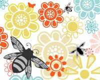 Pszczoły w mój ogródzie ilustracji