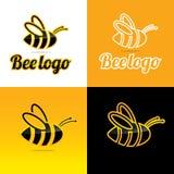 Pszczoła logo i ikona - Wektorowa ilustracja Zdjęcie Stock