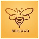 Pszczoła logo, pszczoła, miód Obrazy Royalty Free