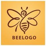 Pszczoła logo, pszczoła, miód Zdjęcie Stock
