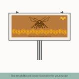 Pszczoła na billboardzie 1 royalty ilustracja