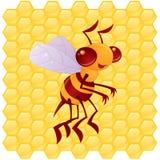 pszczoły charakteru miód Obrazy Royalty Free