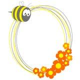 pszczoły kwiatów ramowa fotografia Zdjęcie Stock