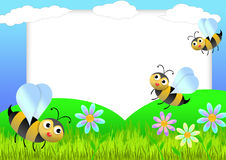 pszczoły scrapbook Zdjęcie Stock