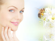 pszczoły twarzy dziewczyna s Zdjęcie Stock