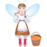 pszczoły wiadra dziewczyny miód Obraz Stock