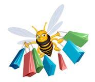 pszczoła zakupy ilustracji