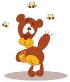pszczoła niedźwiadkowy miód Zdjęcie Stock
