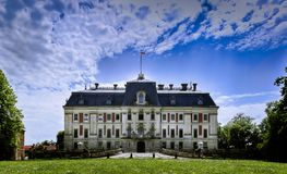 Pszczyna Castle in Poland. Pszczyna Castle, the classical-style palace in the town of Pszczyna, Poland royalty free stock photography