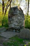 Monument to the victims of the war in Pszczyna, Poland. PSZCZYNA, POLAND - APRIL 22, 2018: Monument to the memory soldiers of the Polish army in Pszczyna Stock Photos