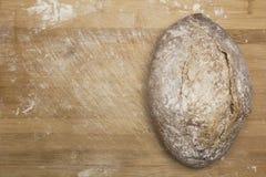 Pszeniczna mąka z świeżym gorącym chlebem Fotografia Stock