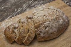 Pszeniczna mąka z świeżym gorącym mlekiem i chlebem Obraz Royalty Free