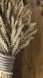 Pszeniczni ucho na Drewnianej desce fotografia royalty free