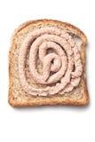 Pâté spread on slice of bread Royalty Free Stock Photo