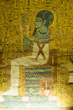 Ptah, Ancient Egyptian God. Ancient Egyptian wall mural of the god Ptah. The creator god whose words came into being. Tomb of Irynefer, TT290, Deir el Medina stock photo