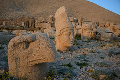 Ptah, Apollo and Tyche statues  in Mount Nemrut Royalty Free Stock Images