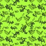 ptaków drzewa naturalni deseniowi Obraz Royalty Free