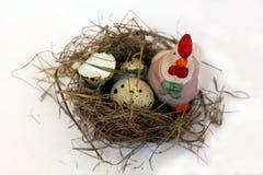 Ptaków jajka i gniazdeczko Obraz Stock
