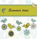 ptaków kwiatów target641_1_ Zdjęcie Royalty Free