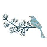 ptaków kwiaty ustawiający majcherów wektor Obraz Stock