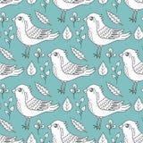 ptaków liść deseniują bezszwowego ilustracji