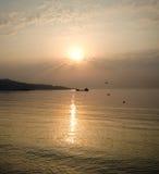 ptaków morza wschód słońca obraz stock