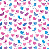ptaków serc wzór Ilustracji
