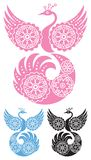 ptak dekoracyjny royalty ilustracja