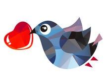 Ptak i serce Fotografia Royalty Free