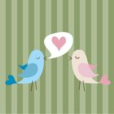 ptak miłość Zdjęcia Stock