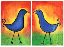 ptak miłości Zdjęcia Stock