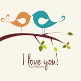 ptak miłości ilustracyjny wektor Obraz Royalty Free