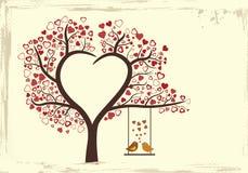 Ptak miłości projekt w rocznika stylu, Fotografia Stock