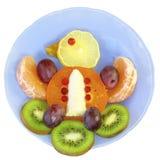 Ptak owoc na talerzu na białym tle Zdjęcie Stock