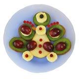 Ptak owoc na talerzu na białym tle Obrazy Royalty Free