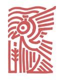 Ptak plemienny ilustracja wektor