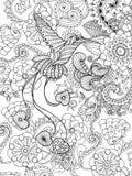 Ptak raj w fantazja ogródzie ilustracja wektor