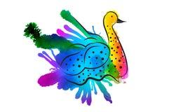 ptak stylizujący Obraz Stock