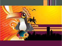 ptak tropikalny royalty ilustracja