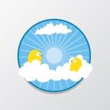 Ptak w niebie Obraz Stock