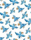 ptaka bezszwowy deseniowy Obraz Royalty Free