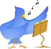 ptaka karcianego powitania ilustracyjnego miejsca śpiewacki teksta wektor twój royalty ilustracja