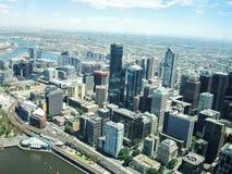 Ptaka oka widok Melbourne Od Eureka Skydeck budynku zdjęcia stock